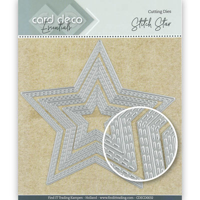 CDECD0032 Card Deco Essentials Cutting Dies Stitch Star -12,3x11,7cm