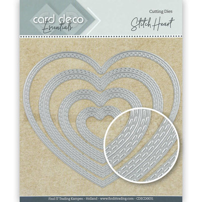 CDECD0031 Card Deco Essentials Cutting Dies Stitch Heart – 12,5x10,9cm