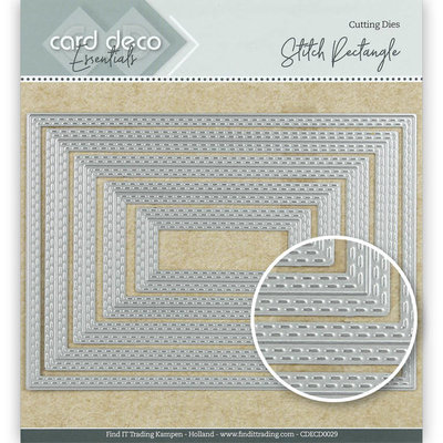 CDECD0029 Card Deco Essentials Cutting Dies Stitch Rectangle – 10x14cm