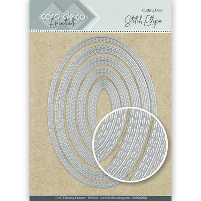 CDECD0028 Card Deco Essentials Cutting Dies Stitch Ellipse – 10x14cm