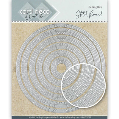CDECD0027 Card Deco Essentials Cutting Dies Stitch Round -12x12cm