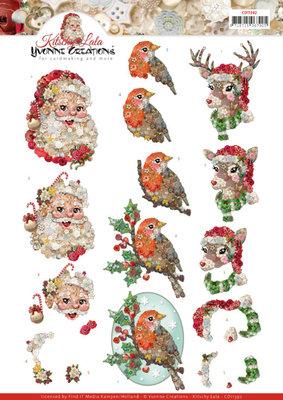 CD11392 3D knipvel - Yvonne Creations -Kitschy Lala - Santa