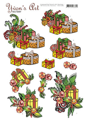 CD11386 3D knipvel - Yvons Art - Christmas Gifts