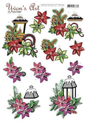 CD11385 3D knipvel - Yvons Art - Christmas Lights