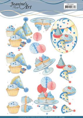 CD11344 3D knipvel - Jeanine's Art - Cake Party