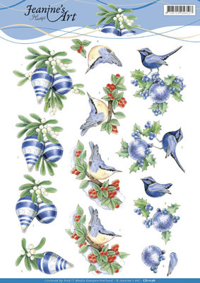 CD11176 3D knipvel - Jeanine's Art - Blue Christmas