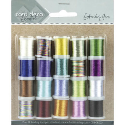 CDEGK003 Card Deco Essentials - Embroidery yarn mix 03