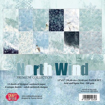 Craft&You North Wind BIG Paper Set 12x12 12 vel CPS-NW30
