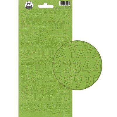 Piatek13 - Alphabet sticker sheet Christmas treats 01 P13-CHT-17 10,5x23cm