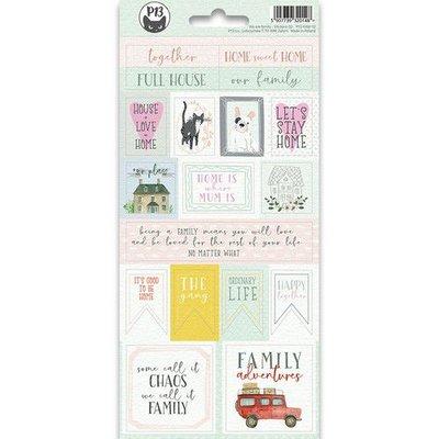 Piatek13 - Sticker sheet We are family 02 P13-FAM-12 10,5x23cm