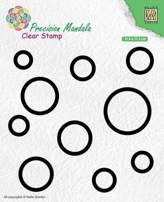Nellies Choice Precision Mandala clearstamp Cirkels MANCS003 113x113mm