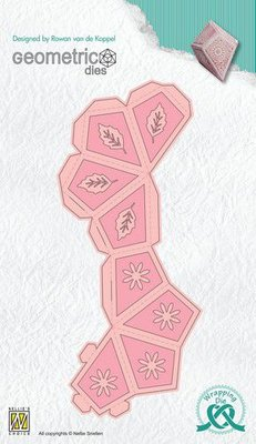 Nellies Choice Wrapping Die  gift box - 7 Diamant WPD007 82x53x53mm