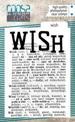 COOSA Crafts clearstamps A7 - Wish COC-095