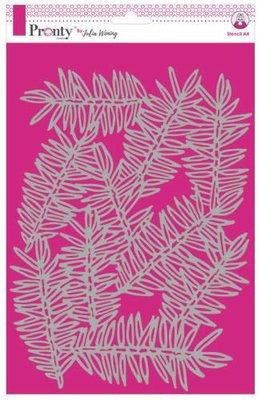 Pronty Stencil Pine Branches 470.765.021 A4 Julia Woning