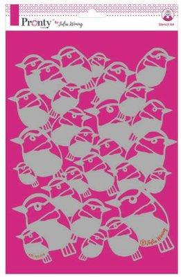 Pronty Stencil Birds 470.765.018 A4 Julia Woning