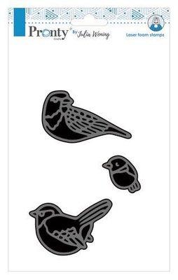 Pronty Foam stamp New 3 birds set 494.904.018 Julia Woning