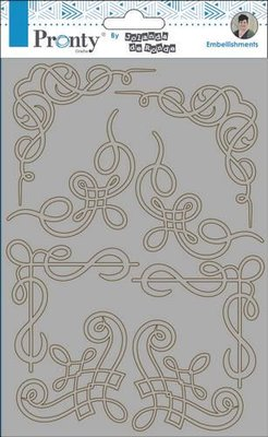 Pronty Chipboard Barok corners  A5 492.010.005 by Jolanda