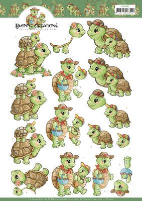 CD11410 3D knipvel Yvonne Creations - Turtle Mommy