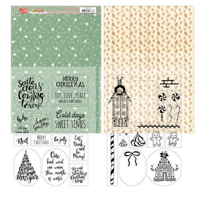 YCMC1003 Mica Sheets - Yvonne Creations - Sweet Christmas