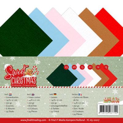YC-A5-10017 Linnenpakket - A5 - Yvonne Creations - Sweet Christmas