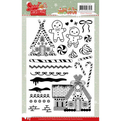 YCCS10053 Clear Stamps - Yvonne Creations - Sweet Christmas