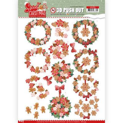 SB10395 3D Pushout - Yvonne Creations - Sweet Christmas - Sweet Wreaths