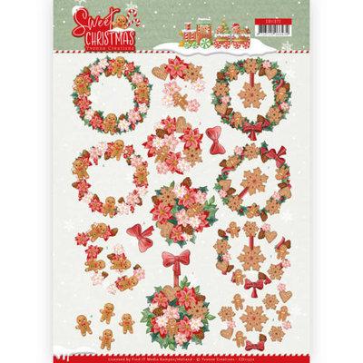 CD11372 3D Knipvel - Yvonne Creations - Sweet Christmas - Sweet Wreaths