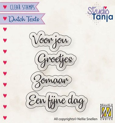 Nellies Choice Clearstempel Tekst (NL) - Voor jou etc.. DTCS026 24x9,2 - 39x9,9mm