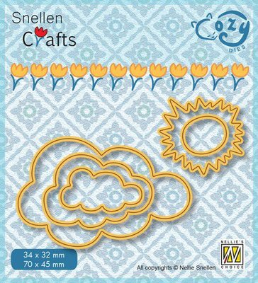 Nellie's Choice Cozy dies Zon en wolken SCCOD018 71x45/35x32mm