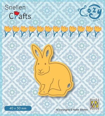 Nellie's Choice Cozy dies Konijn SCCOD014 40x55mm
