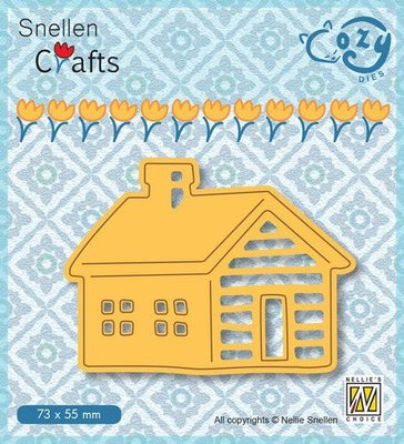 Nellie's Choice Cozy dies Blokhut SCCOD009 73x55mm