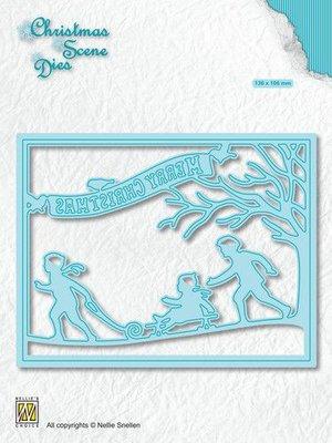 Nellies Choice Christmas Scene Die Sneeuwplezier CRSD008