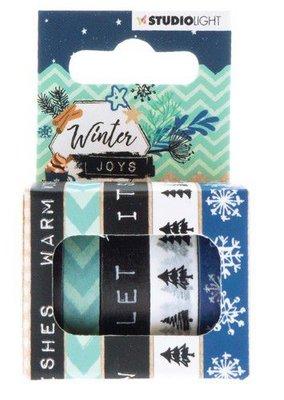 Studio Light Washi tape 5 rls 5 mtr Winter Joys nr 06 WASHIWJ06