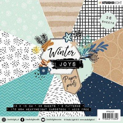 Studio Light Paper pad 36 vel Winter Joys nr 127 PPWJ127 15x15cm