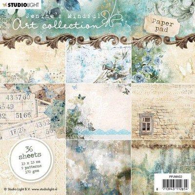 Studio Light Paper pad 36 vel Jenine's Mindful nr 02 PPJMA02 15x15cm
