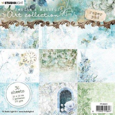 Studio Light Paper pad 36 vel Jenine's Mindful nr 01 PPJMA01 15x15cm
