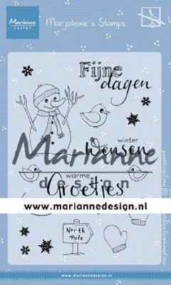 Marianne D Clear Stamps Marjoleine's Sneeuwman MZ1905 1105x148 mm