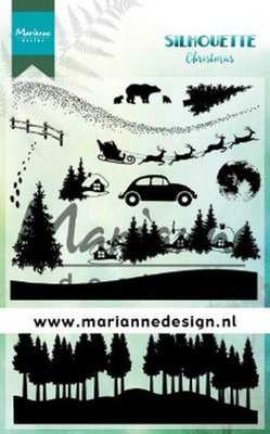 Marianne D Clear Stamps Silhouette Kerst CS1040 1110x150 cm