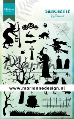 Marianne D Clear Stamps Silhouette Halloween CS1039 2110x150 cm