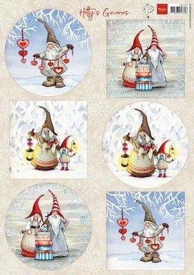 Marianne D Knipvellen Hetty's Winter gnomes HK1707 A4