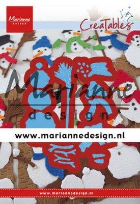 Marianne D Creatable Tiny's Frosty snowmen LR0631 68,5x42,5 mm