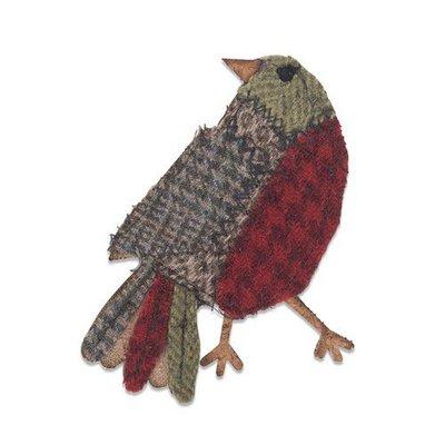 Sizzix Bigz Die - Patchwork Bird 664231 Tim Holtz