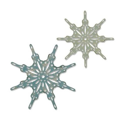 Sizzix Thinlits Die  set -  2PK Fanciful Snowflakes 664227 Tim Holtz