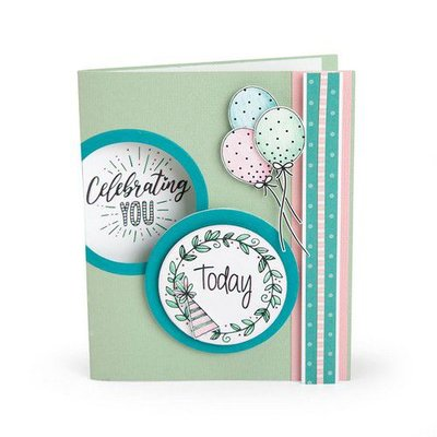 Sizzix Clear Stamps Everyday Sentiments 663632 Katelyn Lizardi