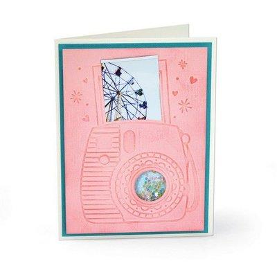 Sizzix 3-D Impresslits Embossing Folder - Instant Camera 663631 Katelyn Lizardi