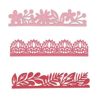 Sizzix Thinlits Die  set -  3PK Decorative Edges 663618 Katelyn Lizardi
