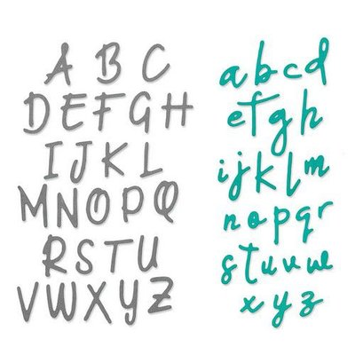 Sizzix Thinlits Die  set -  2PK Alphabet  set - 663421 Emily Tootle