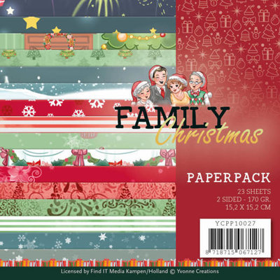 YCPP10027 Paperpack - Yvonne Creations - Family Christmas