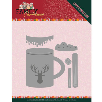 YCD10186 Dies - Yvonne Creations - Family Christmas - Hot Drink – 6,3x6,4cm