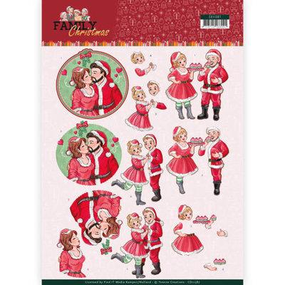 CD11387 3D Knipvel - Yvonne Creations- Loving Christmas